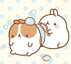 molang-bathing