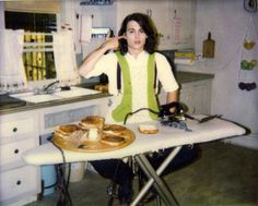 """ Johnny Depp making grilled cheese sandwiches with an iron. """