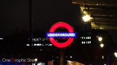Entrance to the tube in London sign.