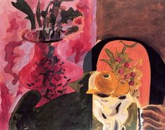 Georges Braque (French, Cubism, 1882–1963): Vase and Fruit, 1942.