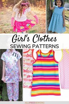 50+ Free Girl Clothes Patterns for Sewing Sewing Projects For Kids, Sewing For Kids, Sewing Crafts, Clothes Patterns, Sewing Patterns, Free Girl, Free Clothes, Diy Gifts, Little Girls