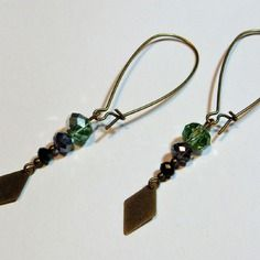 Boucles d'oreille avec perles et breloque