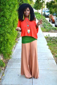 Style Pantry   Crop Top + Silk Tank + DIY Flared Pants