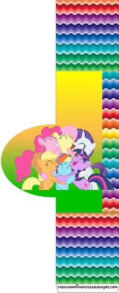 My Little Pony Cores Fortes - Kit Completo com molduras para convites, rótulos para guloseimas, lembrancinhas e imagens! Cumple My Little Pony, Little Poni, Blogger Templates, Kids Rugs, Outdoor Decor, Party Ideas, Bold Colors, Sweet Like Candy, Invitations