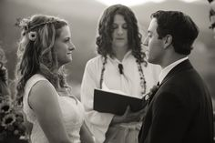Natalie and Kent included a loving remembrance in their autumn wedding