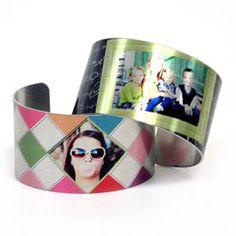(aluminum) Cuff Bracelet Templates a stylish piece of jewelry that incorporates your favorite photos $19.99 PROdigitalPHOTOS