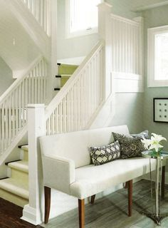 White staircase by Sarah Richardson #stairs