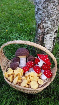 55 New Ideas Crochet Baby Christmas Pattern Crochet Fruit, Crochet Fall, Cute Crochet, Crochet Flowers, Crochet Toys, Champignon Crochet, Yarn Crafts, Diy And Crafts, Amigurumi Patterns