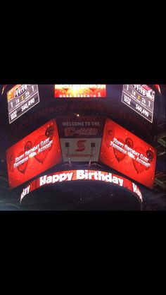At the flames game last night Calgary, Happy Birthday, Game, Night, Happy Aniversary, Happy B Day, Venison, Games, Gaming