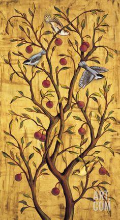 Plum Tree Panel III Art Print by Rodolfo Jimenez at Art.com