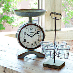 "It may no longer measure the perfect cup of berries but with clock faces on both sides it will measure the time it takes to bake those perfect tarts! brbrliDimensions: 10""w x 14""hlibrbrA ..."