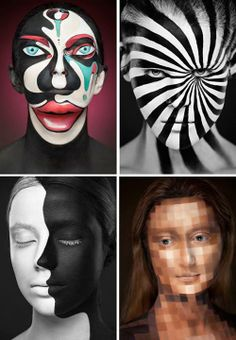 Insane Makeup Turns Models Into 2D Paintings