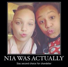 r u kidding me I like Nia but seriously Maddie is so much better than Nia i'm glad that they picked Maddie