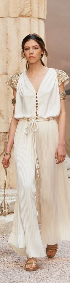 """Chanel Cruise 2018 at the Grand Palais in Paris, """"The Modernity of Antiquity"""" inspired by Greece  chanel.com"""