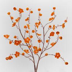 Orange Velvet Plum Blossoms, Set of 2 | World Market