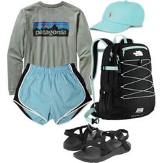 Patagonia, Polo Ralph Lauren, Chaco and The North Face Lazy Day Outfits, Cute Comfy Outfits, Sporty Outfits, Outfits For Teens, Summer Outfits, Teenager Outfits, Comfortable Outfits, Simple Outfits, Everyday Outfits
