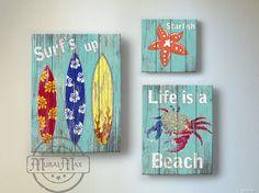 Surf Kids Room Decor  Beach Wall Art Vintage Kids by MuralMAX, $128.00