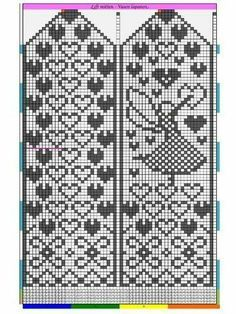 Heart and angel pattern for mittens Baby Hats Knitting, Fair Isle Knitting, Knitting Charts, Knitting Socks, Knitting Patterns, Knitted Mittens Pattern, Crochet Mittens, Knitted Gloves, Wedding Cross Stitch Patterns