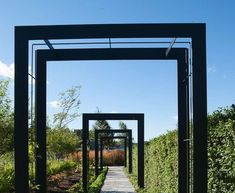 @Nordfjell steel archways via @Christina Tenhundfeld.