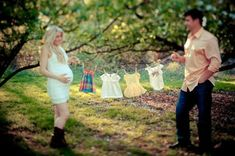 Clothes line maternity picture