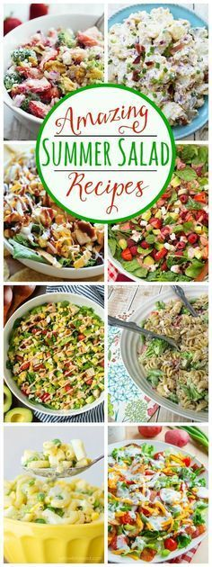 Amazing collection of summer salad recipes. I could eat these all summer long!