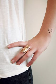 Small+hearts+temporary+tattoo+set+4+pieces+by+Tattoorary+on+Etsy