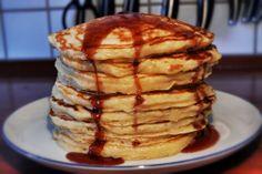 Best Buttermilk Pancakes via comfortablefoods.com