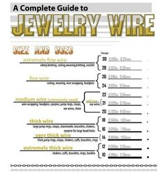 Very Useful Chart for Jewelry Wire (The Beading Gem's Journal)