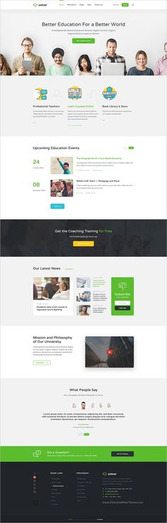 Univer is a clean and modern #Photoshop Template for #edtech any university or #educational institution website with 24 organized PSD pages download now➩  https://themeforest.net/item/univer-multipurpose-education-university-psd-template/18768199?ref=Datasata