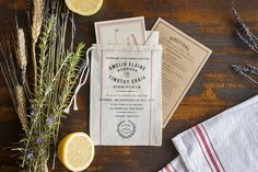 inspiration | rustic market inspired wedding invitations | lucky luxe | via: oh so beautiful paper