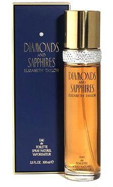 Diamonds and Sapphires Elizabeth Taylor Feminino