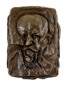 Bronze Relief - Portrait of the Father (1912) - Otto Gutfreund