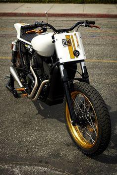 Harley-Davidson Street Tracker by Speed Merchant #motorcycles #streettracker #motos | caferacerpasion.com
