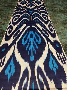 Fabric by the yard Hand woven fabric Vintage ethnic silk Ikat Hand dyed silk Oriental Asian Uzbek fabric Designer Raw silk fabric