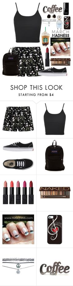 """""""Daily outfit"""" by caybear1234 ❤ liked on Polyvore featuring Giambattista Valli, Topshop, Vans, JanSport, NARS Cosmetics, Urban Decay, Marc Jacobs, Wet Seal and Rustic Arrow"""