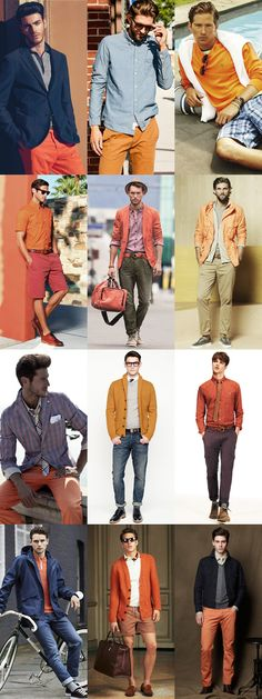 Mens Orange Lookbook Inspiration
