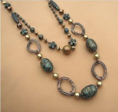 The Crackled Beaded Neckless is perfect for any occasion whether classy or casual. $18.00