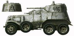 Бронеавтомобиль БА-10 Западный фронт, январь 1942 года .