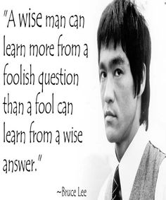 A wise man can learn from.