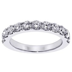 Platinum 1ct TDW Diamond Wedding Band