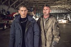 dominic purcell - wentworth miller - in Legends of tomorrow