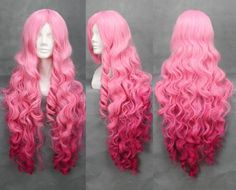 Long Pink Cosplay Wig: Clothing