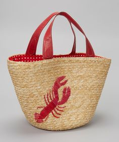 Straw Studios Red Lobster Tote |Just bought this at Beals!