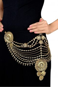 Silver Gold Plated Traditional Floral Crystal Pearl Belt
