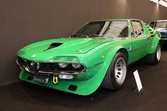 This Alfa Romeo Montreal in Group 4 trim has been developed by Autodelta and is pictured in the excellent article 'Inside the Walls of Autodelta, Part 2'.  After being shown at the 1973 London Racing Car Show, it has been sold to Alfa Romeo Germany who entered the car on several German events including the 1973 1000 kms of the Nürburgring.