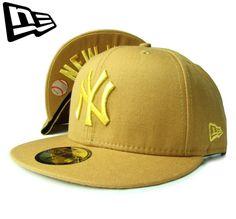 """【ニューエラ】【NEW ERA】59FIFTY NEW YORK YANKEES """"NY"""" アンダーバイザー WHEAT(ウィート)ゴールドロゴ【UDNER VISOR】【HIP HOP】【B系】【ヒップホップ】【GOLD】【キャップ】【帽子】【BROOKLYN】【あす楽】【楽天市場】"""