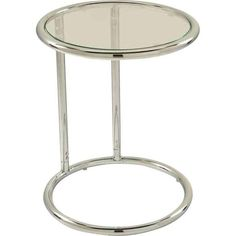 Avenue Six YLD14 Clear Glass Circular End Table