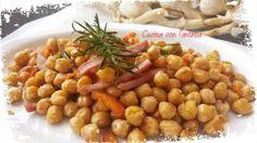 Ceci al romarino e pancetta, un contorno sano e gustoso