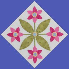 2012 Mimi's Bloomers BOM quilt by Erin Russek - Block - Block 3