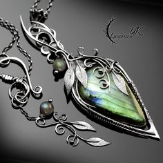 ZINDYRILL - silver and labradorite by LUNARIEEN on DeviantArt